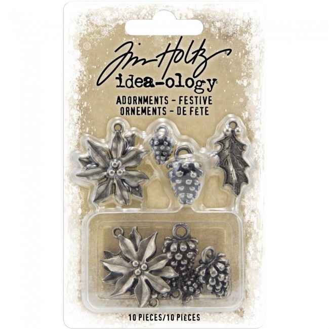 Metálicos Ideaology Antique Nickel Festive Tim Holtz