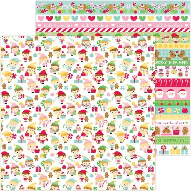Papel Estampado Doble Cara 12x12 Christmas Magic Little Helpers