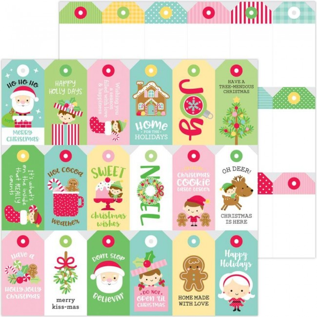 Papel Estampado Doble Cara 12x12 Christmas Magic Christmas Tags
