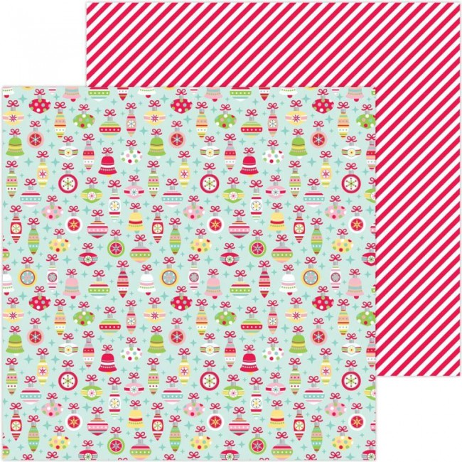 Papel Estampado Doble Cara 12x12 Christmas Magic Deck The Halls