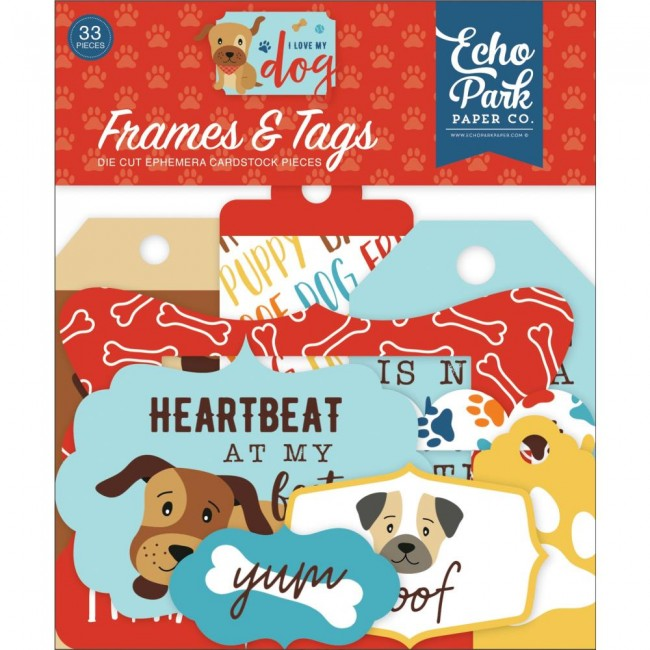 Die Cuts I Love My Dog Frames & Tags