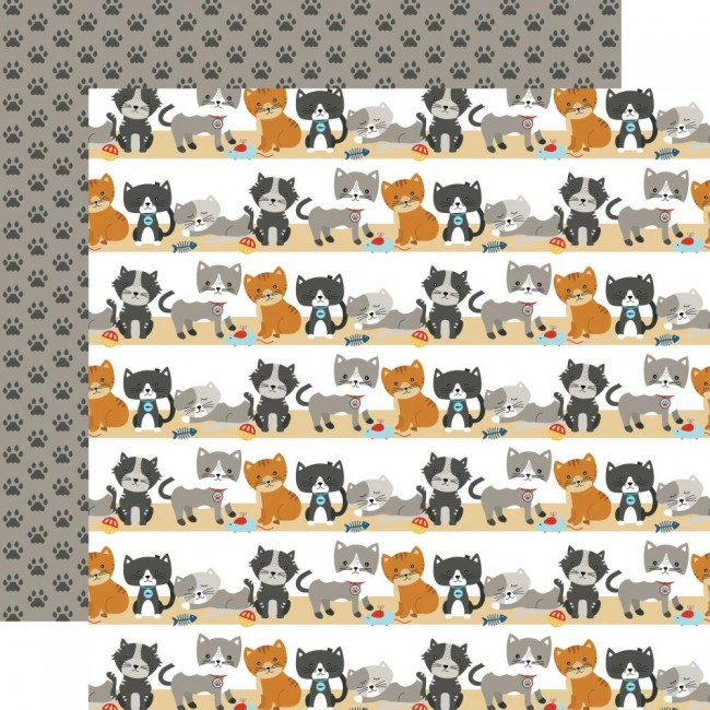 Papel Estampado Doble Cara 12x12 I Love My Cat Purrfect Day
