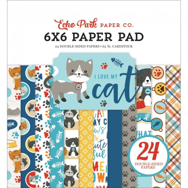 Stack Papeles Estampados 6x6 I Love My Cat