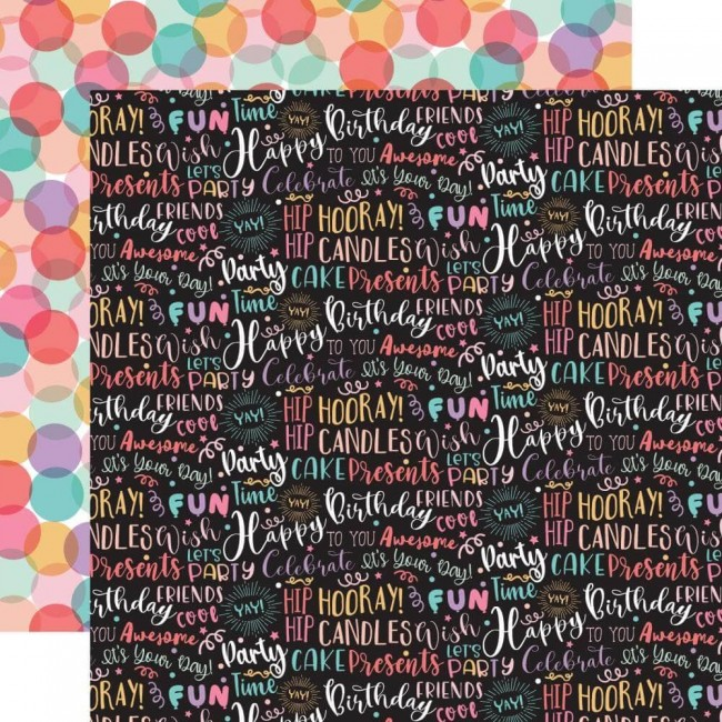 Papel Estampado Doble Cara 12x12 It's Your Birthday Girl Birthday Girl Words