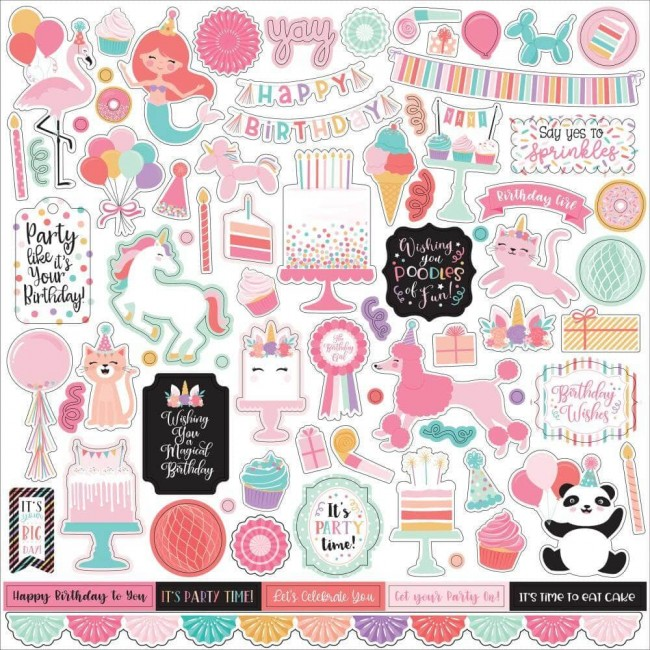 Pegatinas 12x12 It's Your Birthday Girl Elements