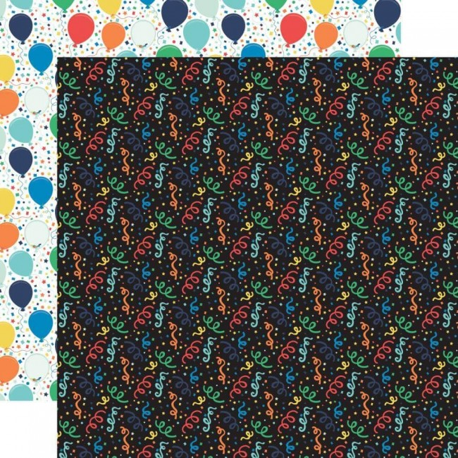 Papel Estampado Doble Cara 12x12 It's Your Birthday Boy Boy Confetti
