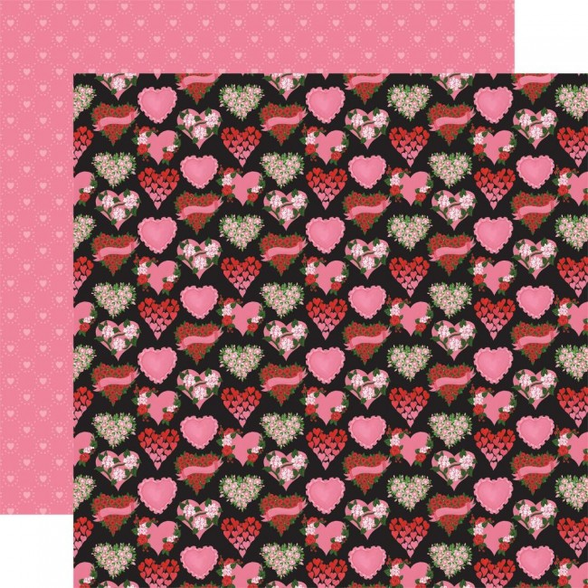 Papel Estampado Doble Cara 12x12 Be My Valentine Box Of Chocolates