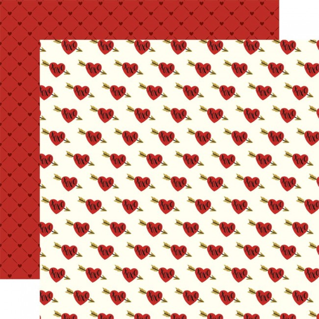 Papel Estampado Doble Cara 12x12 Be My Valentine Sweethearts