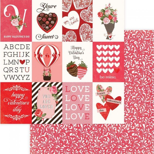 Papel Estampado Doble Cara 12x12 Be Mine You're Sweet