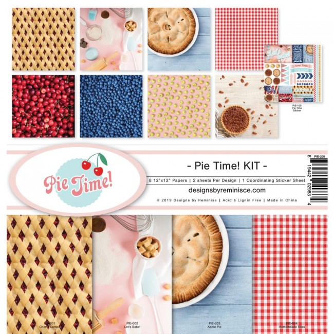 Kit Papeles Estampados 12x12 Pie Time