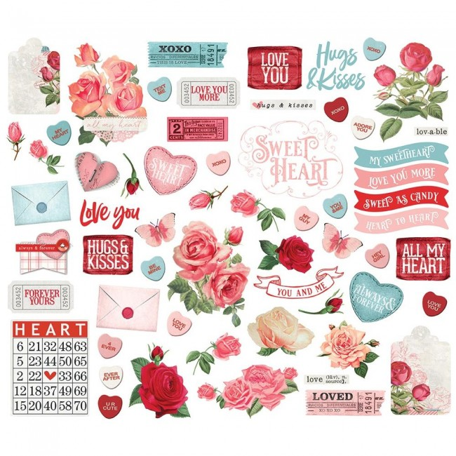 Die Cuts Simple Vintage My Valentine Bits & Pieces