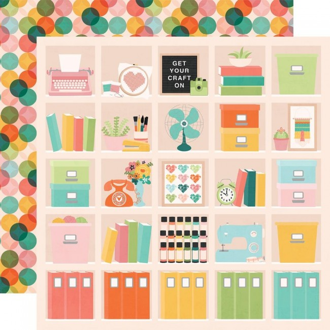 Papel Estampado Doble Cara 12x12 Hey, Crafty Girl Happy Place