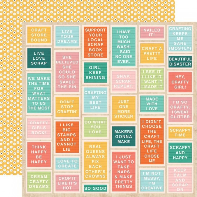 Papel Estampado Doble Cara 12x12 Hey, Crafty Girl