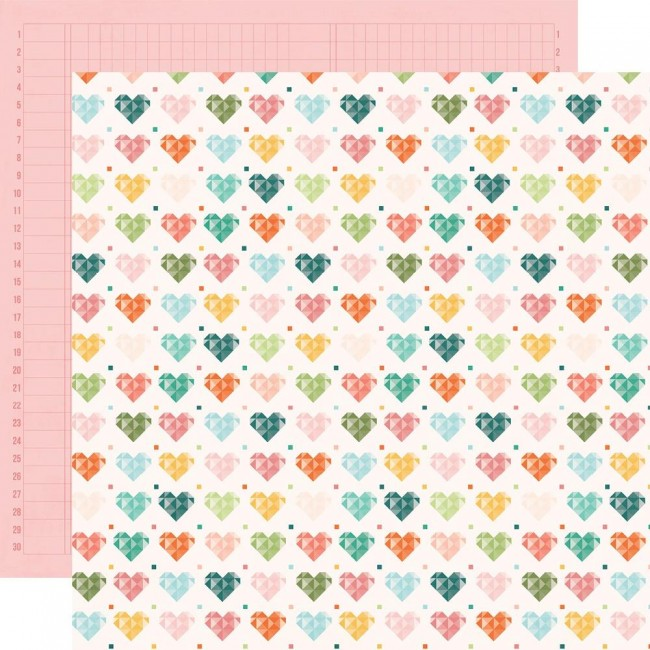 Papel Estampado Doble Cara 12x12 Hey, Crafty Girl Made With Love