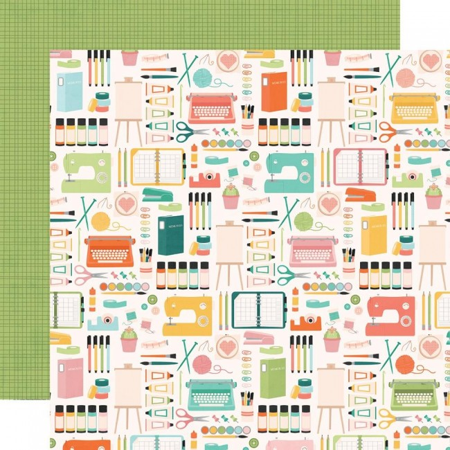 Papel Estampado Doble Cara 12x12 Hey, Crafty Girl Makers Gonna Make