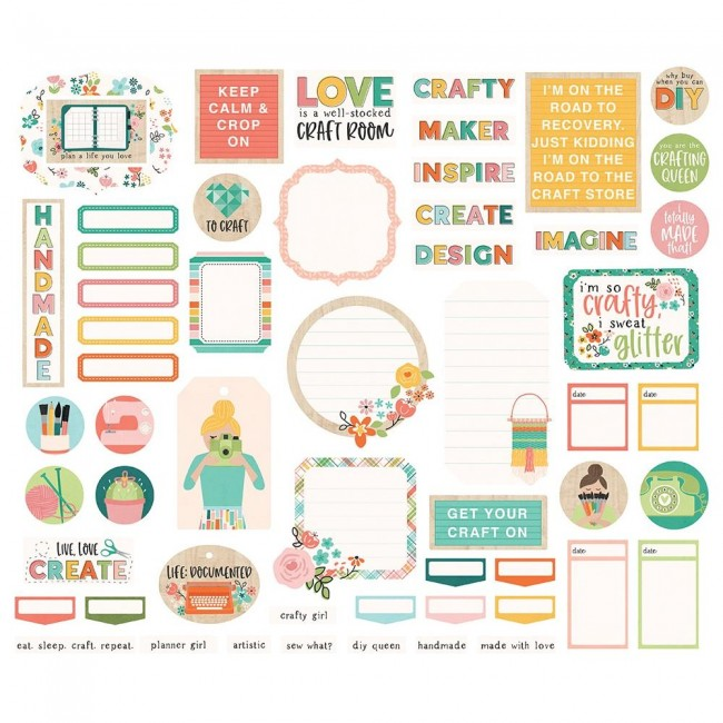 Die Cuts Hey, Crafty Girl Bits & Pieces Journa