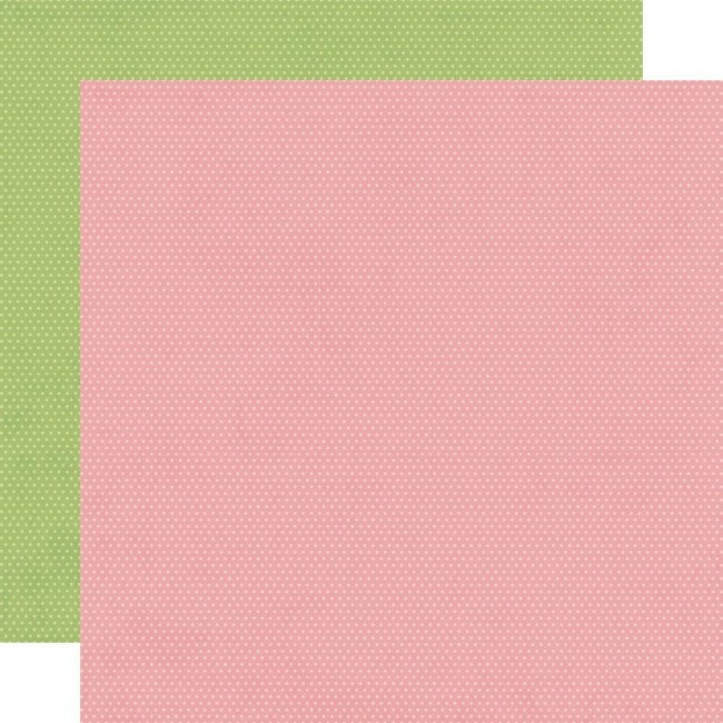 Papel Estampado Doble Cara 12x12 Hey, Crafty Girl Rose and Pear Dots Simple Basics