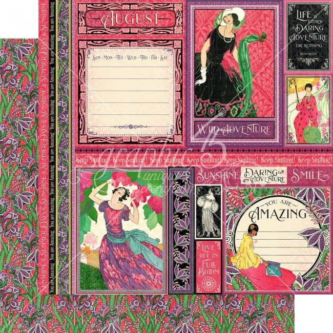 Papel Estampado Doble Cara 12x12 Fashion Forward August