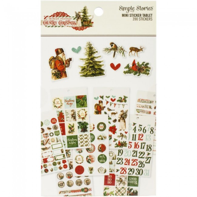 Librillo de pegatinas Country Christmas