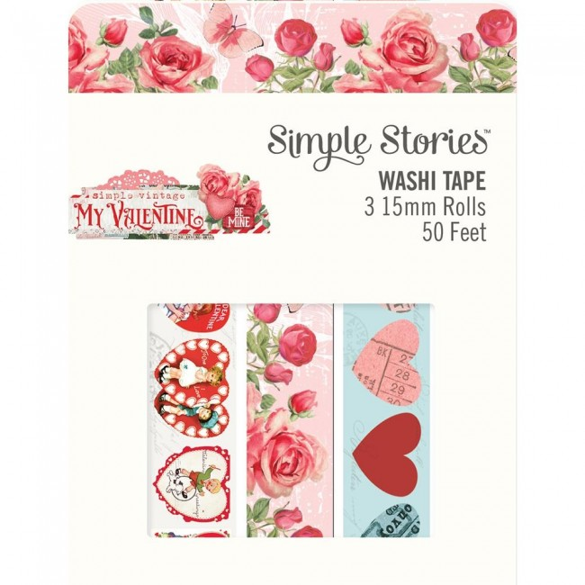 Set de Washi Tape Simple Vintage My Valentine