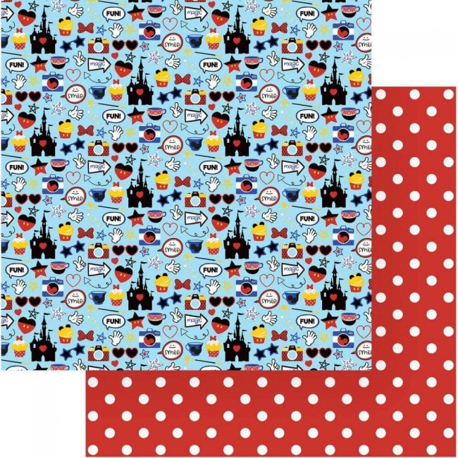 Papel Estampado Doble Cara 12x12 Another Day At The Park Mouse House
