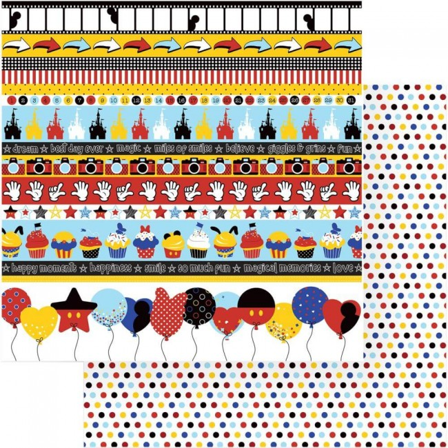 Papel Estampado Doble Cara 12x12 Another Day At The Park So Much Fun