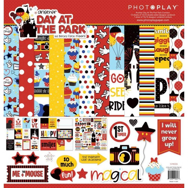 Kit Papeles Estampados 12x12 Another Day At The Park
