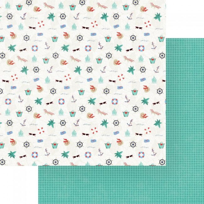 Papel Estampado Doble Cara 12x12 Set Sail Sail Away