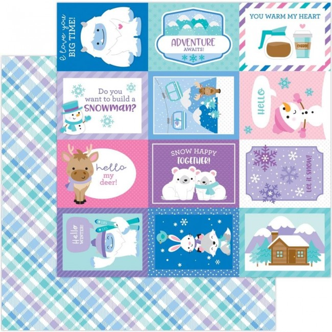 Papel Estampado Doble Cara 12x12 Winter Wonderland Cozy Cardigan