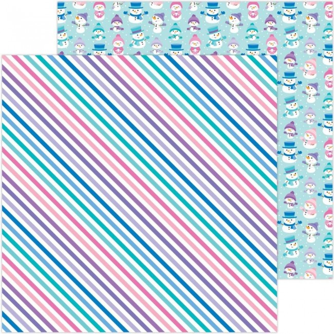 Papel Estampado Doble Cara 12x12 Winter Wonderland Just Chillin'