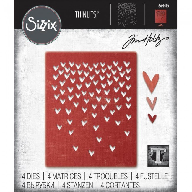 Thinlits Falling Hearts Tim Holtz