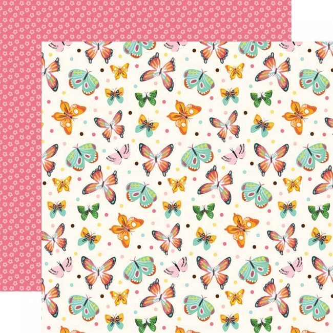 Papel Estampado Doble Cara 12x12 I love Spring Blissful Butterflies