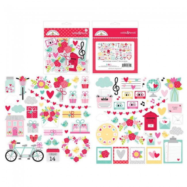 Die Cuts Love Notes Odds & Ends