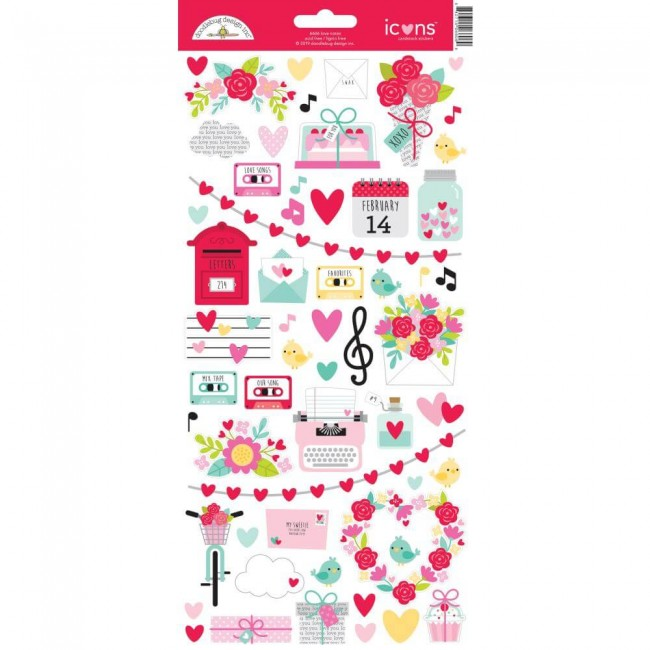Pegatinas 6x12 Love Notes Icons