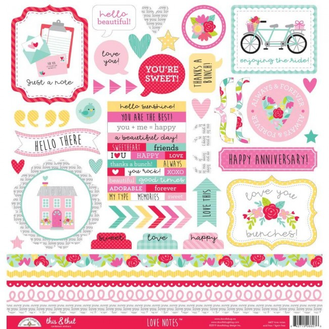 Pegatinas 12x12 Love Notes This & That