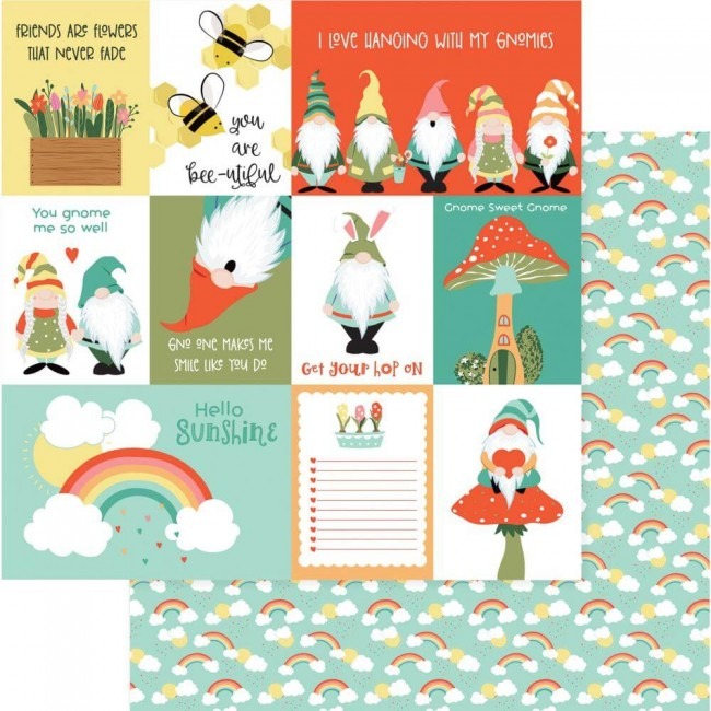 Papel Estampado Doble Cara 12x12 Tulla & Norbert Sunshine
