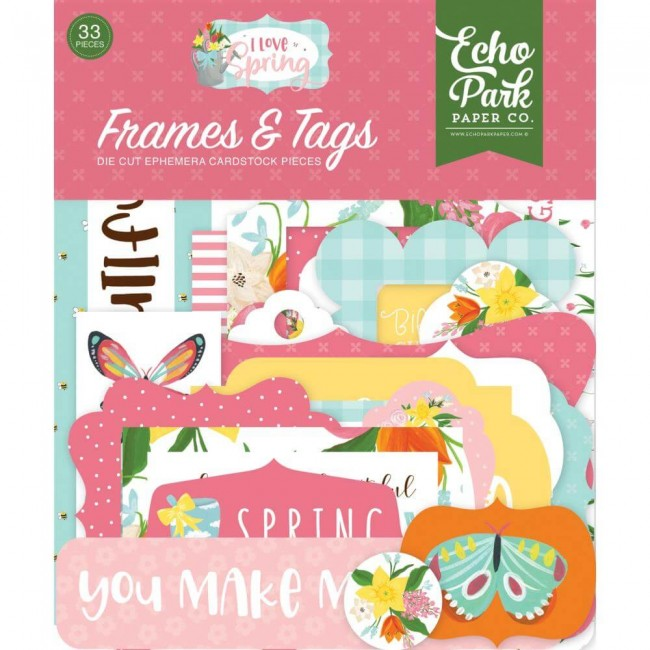 Die Cuts I love Spring Frames & Tags