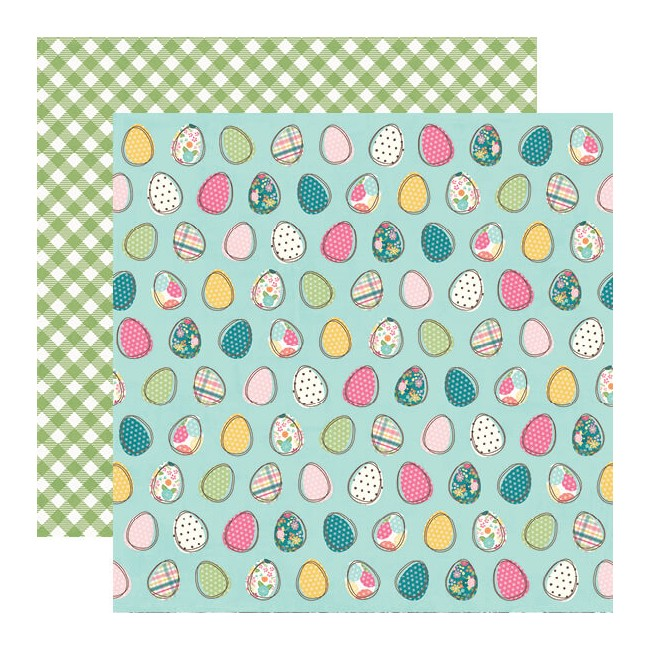 Papel Estampado Doble Cara 12x12 Hip Hop Hooray Egg-Stra Special