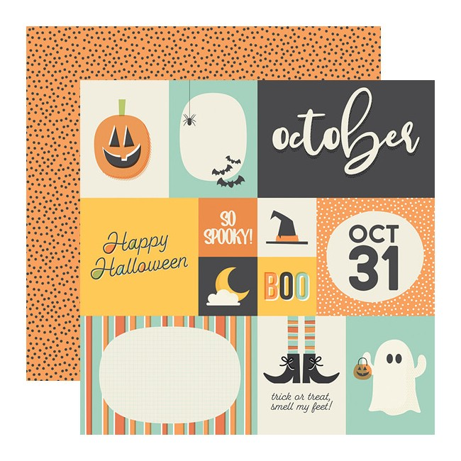 Papel Estampado Doble Cara 12x12 Best Year Ever October