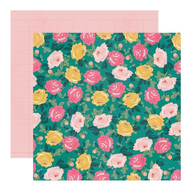 Papel Estampado Doble Cara 12x12 I Am 2020 Blooming