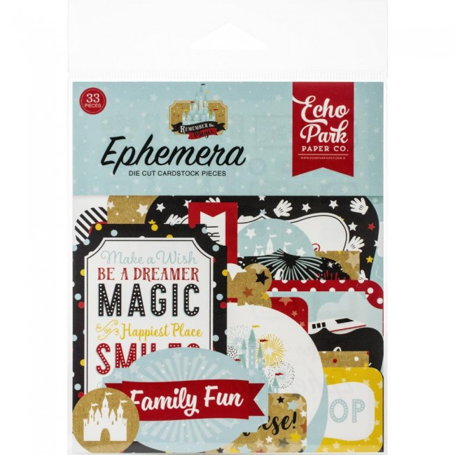 Die Cuts Remember The Magic Icons