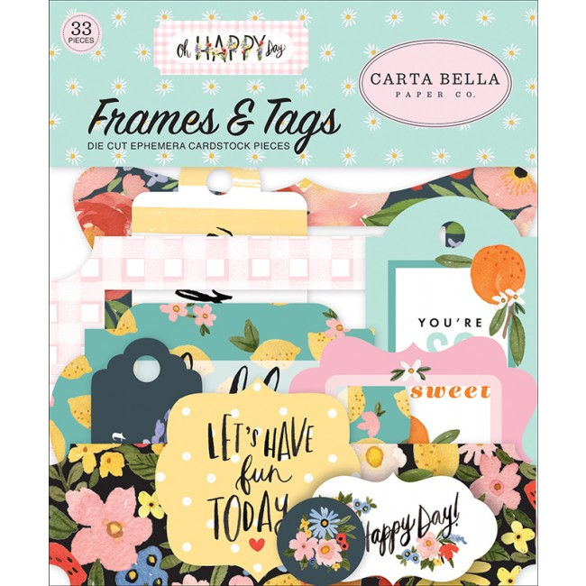 Die Cuts Oh Happy Day Spring Frames & Tags