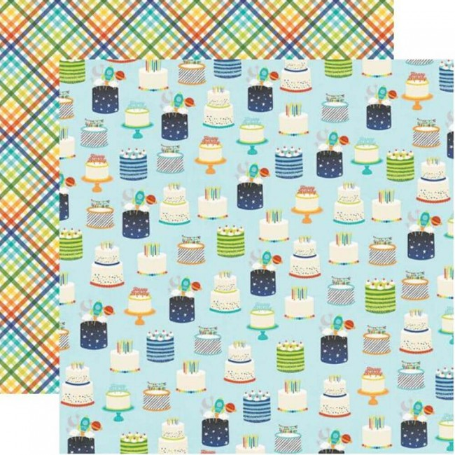 Papel Estampado Doble Cara 12x12 Birthday Blast Wish Big!