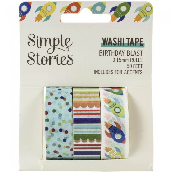 Set de Washi Tape Birthday Blast