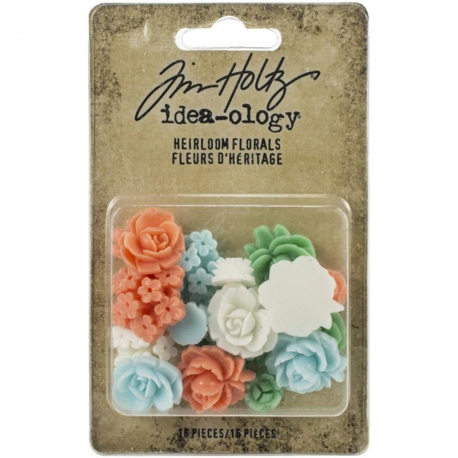Set de adornos de resina Idea-ology Heirloom Florals