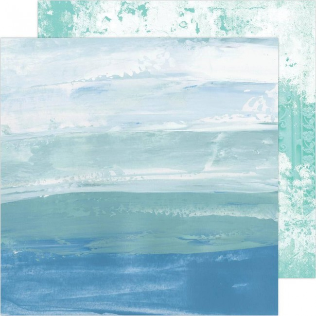Papel Estampado Doble Cara 12x12 Art Walk Sea To Sky