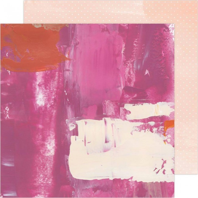 Papel Estampado Doble Cara 12x12 Art Walk Pinks
