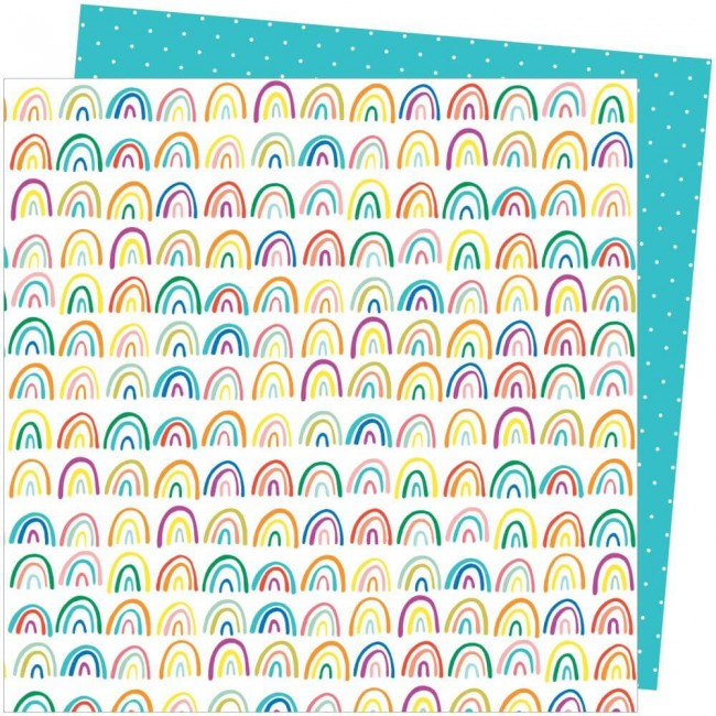 Papel Estampado Doble Cara 12x12 Picnic In The Park Amy Tangerine All The Colors