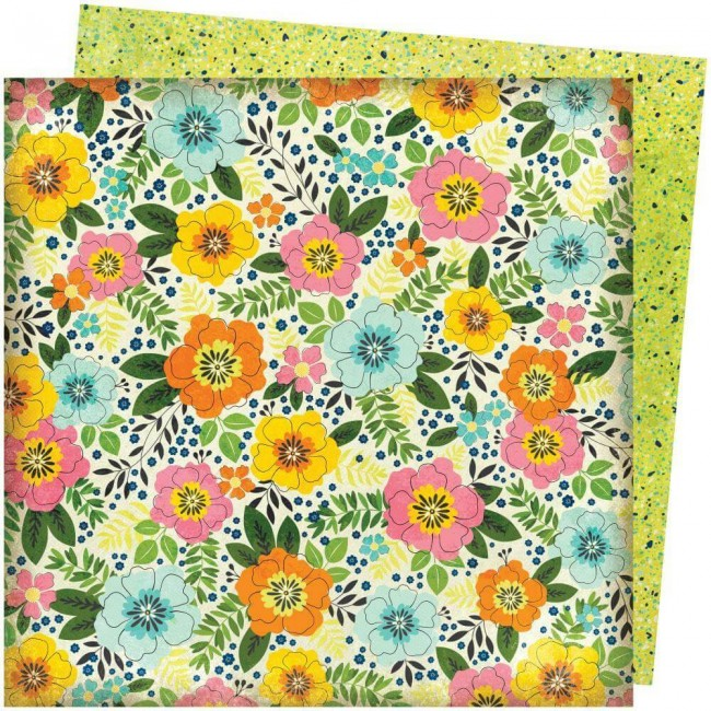 Papel Estampado Doble Cara 12x12 Let's Wander Vicki Boutin Sunshine & Smiles