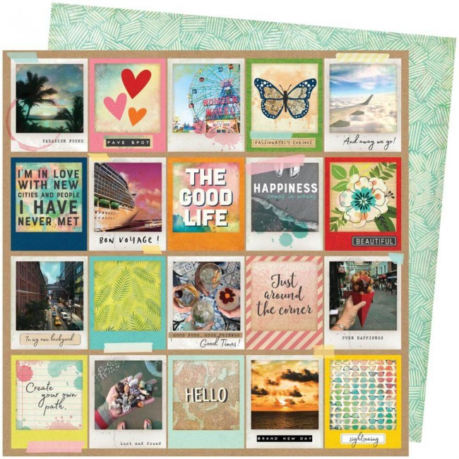 Papel Estampado Doble Cara 12x12 Let's Wander Vicki Boutin Picture Perfect
